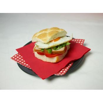 perfetto brunch: panino con polpettone e uovo all'occhio di bue