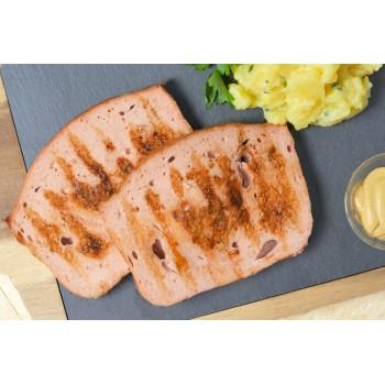 polpettone alla griglia con insalata di patate e senape