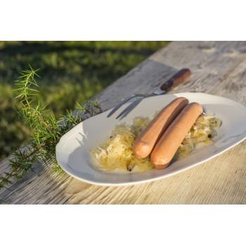 wurstel con crauti e patate