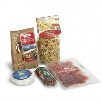 Cena Speck-tacolare, assortimento di prodotti tipici dell'Alto Adige