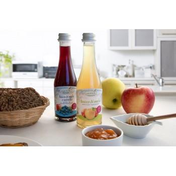 Succo mele e mirtilli nel formato ideale per bambini