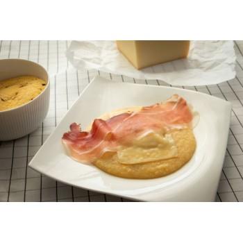Polenta speck e formaggio di montagna