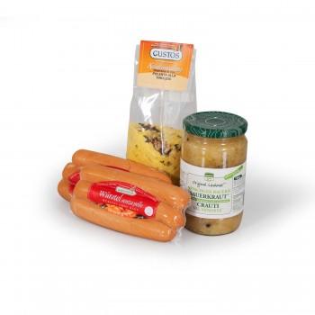 Polenta, würstel e crauti, tutto il necessario per un pranzo altoatesino