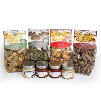 Kit del Buongustaio con 4 tipologie di pasta e di sughi