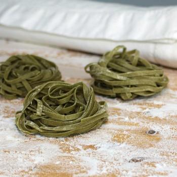 Fettuccine con aglio orsino selvatico fresche