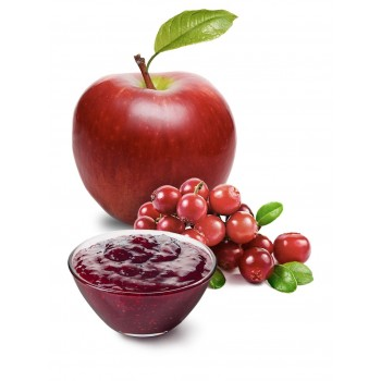 Mirtilli rossi e mela, per una confettura speciale