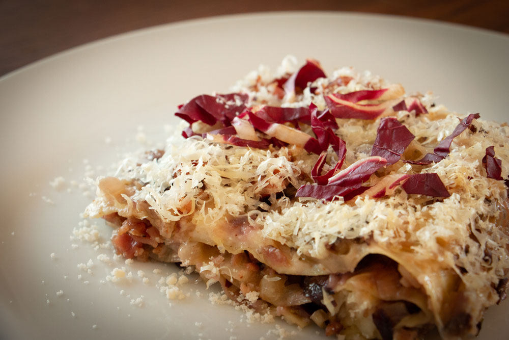 Lasagne Speck e radicchio